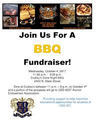 Bbq Fundraiser Flyer Join Us For A Bbq Fundraiser Usd 257 Alumni Endowment Association
