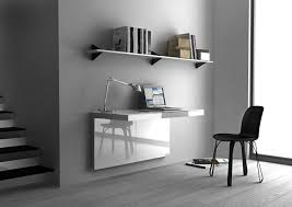 mirrored office furniture. Charming Wall Mount Office Desk For Your Design: White Mirrored Furniture E
