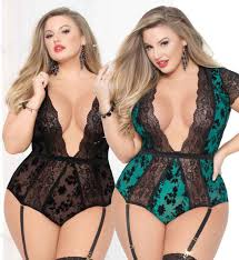 Black Sheer Lace Teddy With Harness