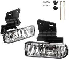 Irontek Clear Lens 1 Pair Fog Lights Fits 99 02 Chevrolet Silverado 1500 2500 00 02 Chevrolet Silverado 3500 00 06 Chevrolet Suburban 00 06