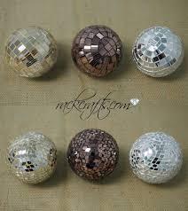 Leopard Decorative Balls Mosaic Decor Decoration Balls Spheres Orbs Disco Collage Gold 56