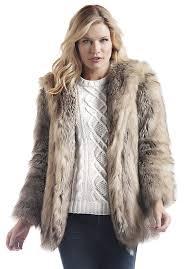 grey fox hooded faux fur jacket 1