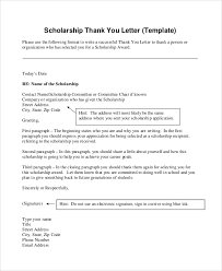 Scholarship Thank You Letter Format