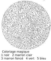 Magique Complexe Chiffres Coloriages Magiques