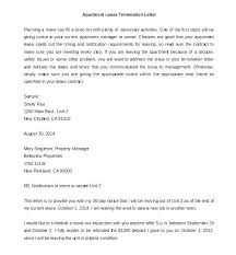 Rental Contract Termination Letter Free Sample Lease