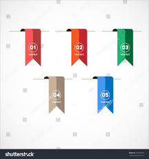 flyers numbers set vector colorful bookmark flag trend stock vector 250387390