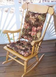 Bedroom Breathtaking Brown Base Floral Cracker Barrel Rocking