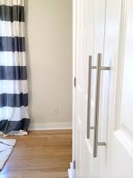 modern french closet doors. DIY Closet Door Update: How To Update Your Old Bi-fold Doors Modern French Doors! Love The Little Added Touch Of Pulls, Too. U