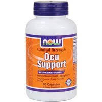 <b>Ocu</b> Support <b>Clinical Strength</b>, 90 Caps by Now Foods (Pack of 2) by ...