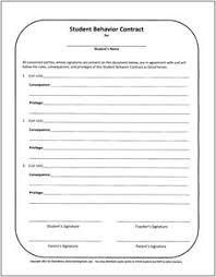 Behavior Contract Template 37 Best Behavior Contract Images Classroom Classroom Behavior