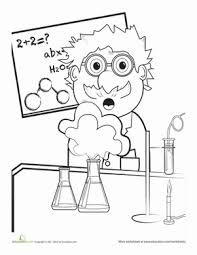 Small Picture First Grade People Worksheets Mad Scientist Coloring Page Science