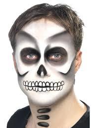 skeleton face paint kids skeleton face painting kit s kids fancy dress make up home improvement