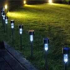garden led lights. Solar Powered Dip Led Lawn Light Plastic Outdoor Yard Garden Wall Lobby Pathway Lamp Decoration Lights
