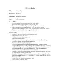 Packer Job Description For Resume Warehouse Worker Job Description For Resume Best Of Duties A 1