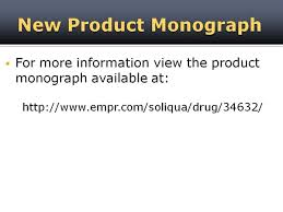 Soliqua Dosing Chart New Drug Product Soliqua 100 33 Mpr