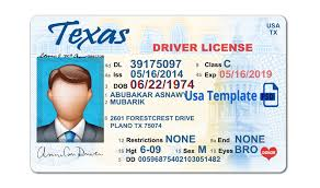 License Texas Template Download Drivers