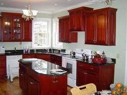 Painting Cherry Kitchen Cabinets White Inside Decorating Ideas