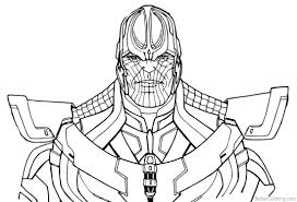 Thanos From Avengers Infinity War Coloring Pages Line