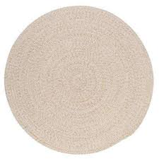 10 round cream wool area rugs