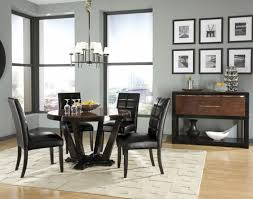 dining table dining room round shape carpet sconce