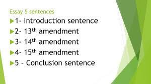 chapter reconstruction test review ppt  1 introduction sentence 2 13th amendment 3 14th amendment