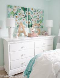 teenage girl bed furniture. Sophisticated Teenage Girls Bedroom Makeover. Gorgeous White Dresser + Canvas Paired Wall Art From HomeGoods. Lamps Target Girl Bed Furniture