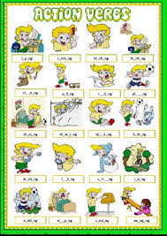 Verb Action Action Verbs Missing Vowels Activity