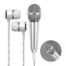 KTV Karaoke kulaklık el konuşma telefon bilgisayar için 3.5mm Stereo Studio  masaüstü aksesuarları kablolu desteği uygulaması Mini mikrofon|Microphones