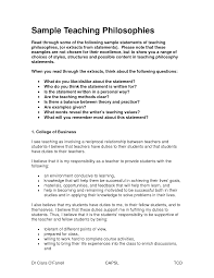 work statements examples professionalhilosophy statement examples for early childhood