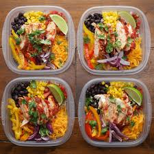 Weekly Lunch Prep Weekday Meal Prep Chicken Burrito Bowls Recipe By Tasty