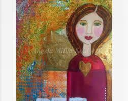 home decor dream girl watercolor