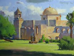 would like and i end up with a painting that looks disjointed such is the case with this painting of mission san jose in san antonio
