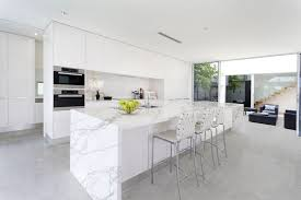 contempoarary super white quartzite countertops