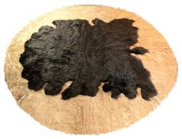 fur accents area rug faux wolf skin and buffalo hide southwestern area rugs by fur accents