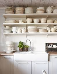 Rustic Kitchen Shelving Country Rustic Kitchen With Open Shelves Miserv