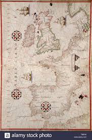 Portolan Charts Portolan Chart Western Europe And The British Isles 1590s