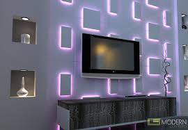 modern design led lit 3d wall panel led