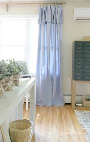 Drop Cloth Curtains Tutorial Diy No Sew Drop Cloth Curtains And A Cheap Curtain Rod Hack