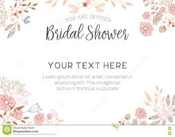 Bridal Shower Template Bridal Shower Invitation stock illustration Illustration of script 2