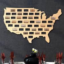 after 5 work usa wine cork map wall decor