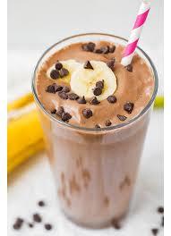 chocolate peanut er banana breakfast shake