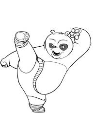 Kung Fu Panda Da Colorare Disegni Gratis