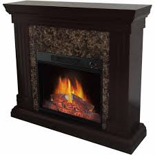 Electric fireplace, Latest Electric Fireplace Stone For Living Room Modern  Black Made Of Wood And