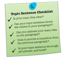 Here Is The Right Way And The Wrong Way To Write Topic Sentences