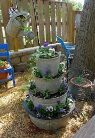 turn some galvanized tubs into a tower garden
