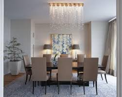 Brilliant Interior Apartment Decor Ideas Using Frantic Chandelier Above Dining  Table Set