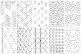 Simple Patterns Beauteous Simple Line Geometric Patterns By Youan Design Bundles