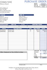 Purchase Order Invoice Template Purchase Order Template