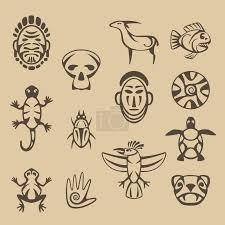 Vektorová Grafika Sada Stylizované Indiánské Symboly 164014210