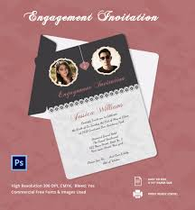 engagement invitation psd ai vector eps elegant engagement invitation card template